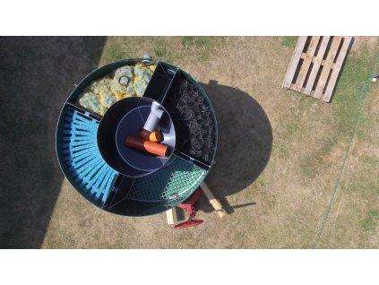 Filtr pro zahradní jezírka - čtyřkomorový - kulatý