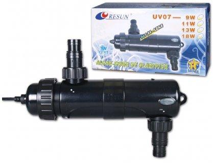 Resun UV 07- 18W průtokový sterilizer, 3100l/hod