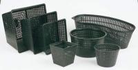 Košík na vodní rostliny plastový - oválný košík 45 x 18 cm