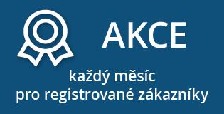 Pro registrované zákazníky každý měsíc AKCE