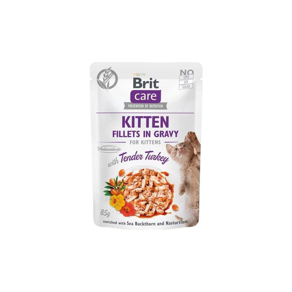 Brit Care Cat kaps. Kitten - Fillets in Gravy with Tender Turkey 85 g