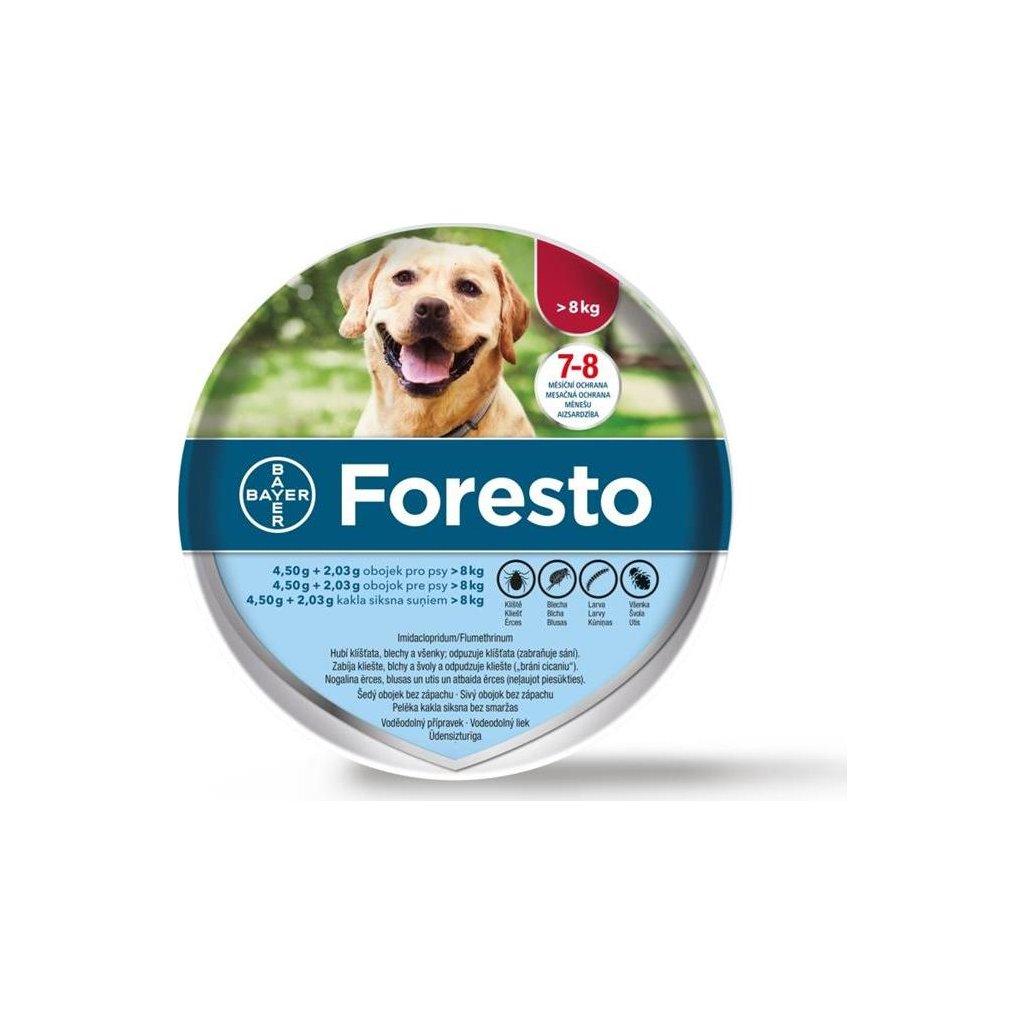 Foresto 4,50g+2,03g obojek pro psy nad 8kg obojek 1ks 70 cm