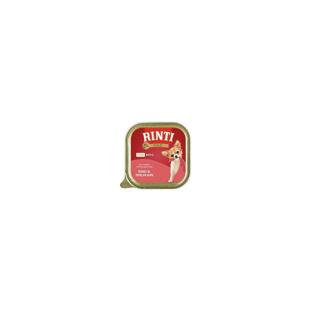 Rinti Dog Gold Mini vanička hovězí+perlička 100g- vyprodej