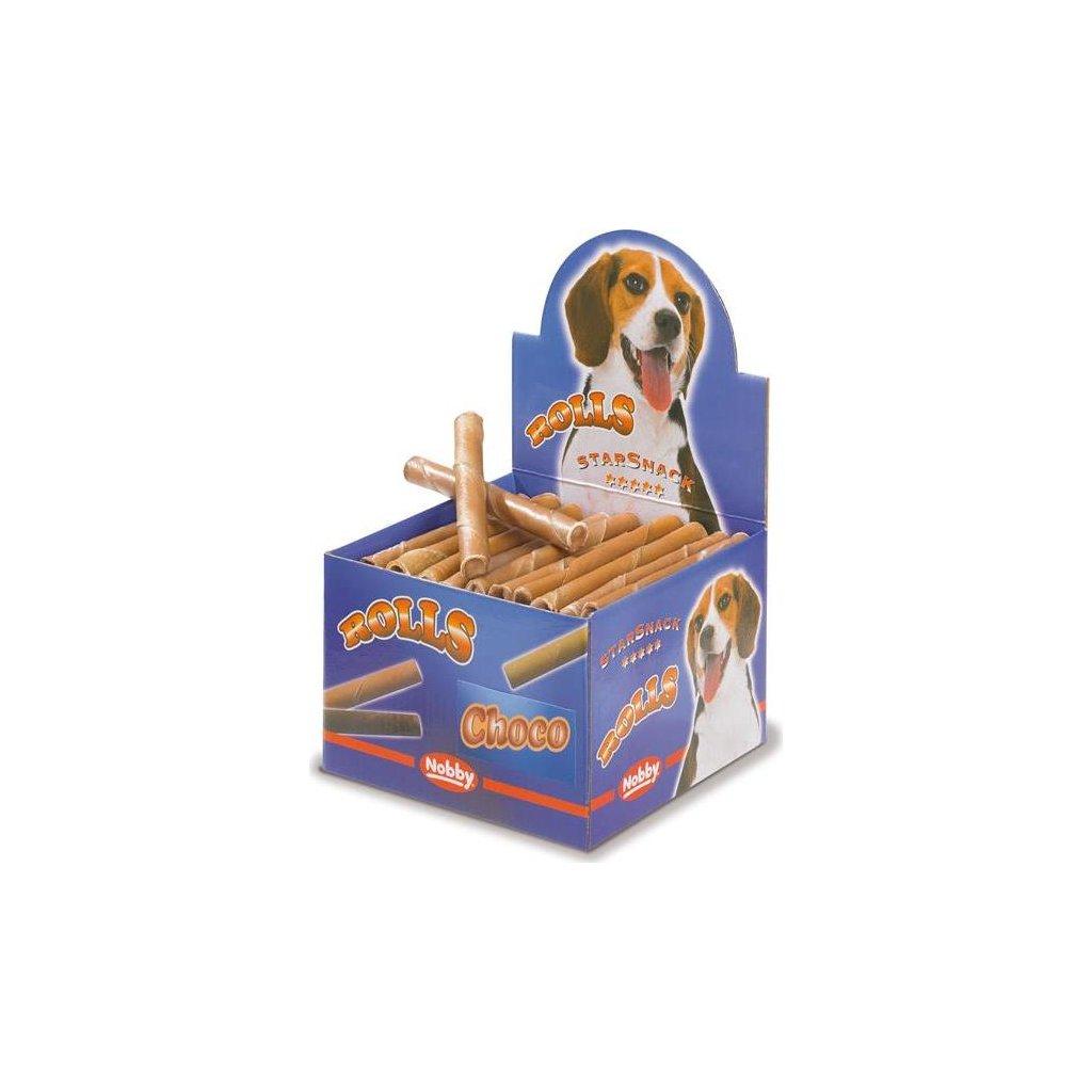 Buvolí trubičky plněné - čokoláda Nobby display 50 ks