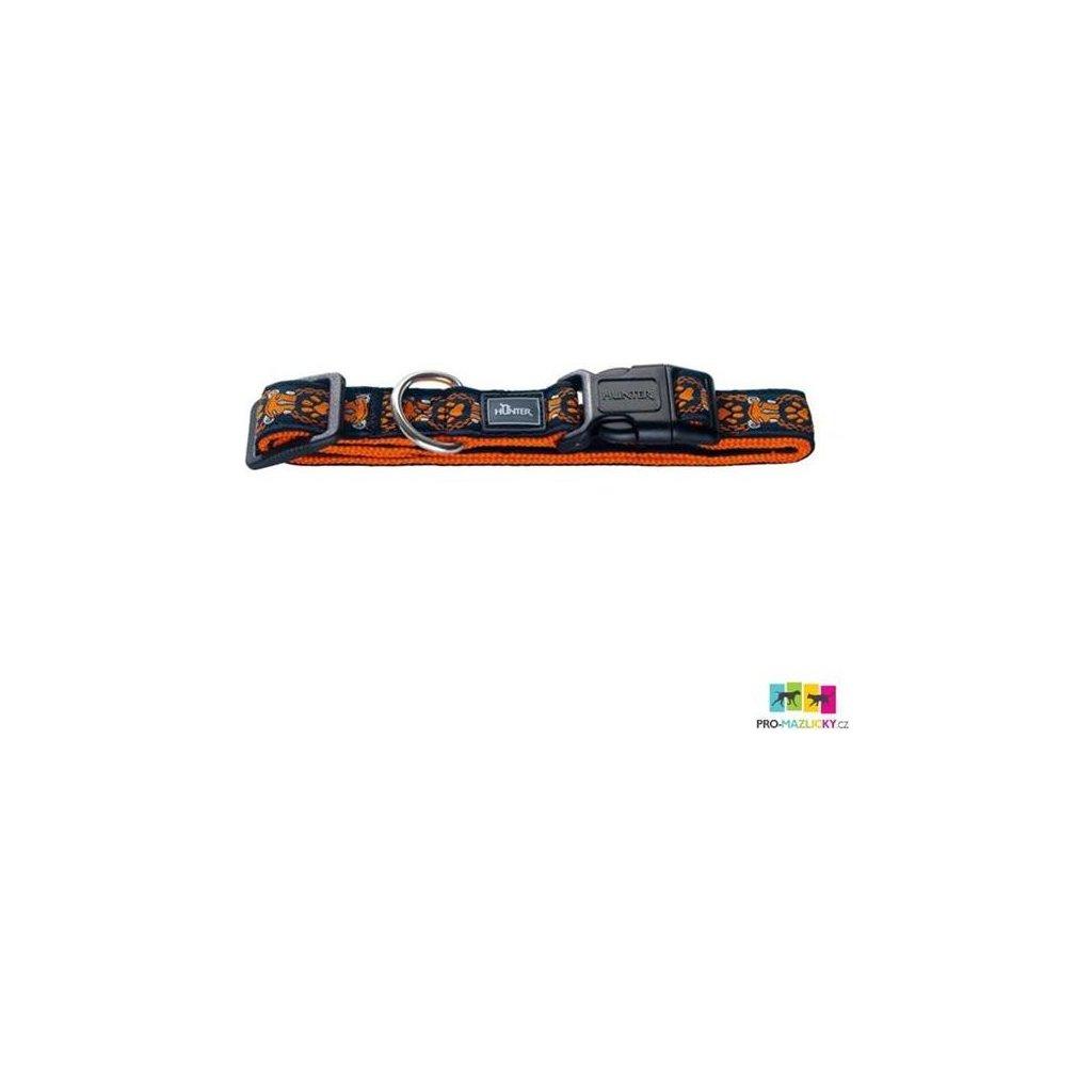 Obojek nylon Krazy oranžový Hunter XS 22 x 35 cm