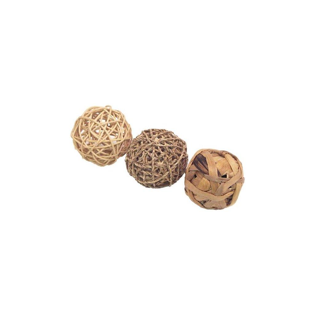 Hračka hlod. přírodní koule Rosewood 8 cm, 3 ks