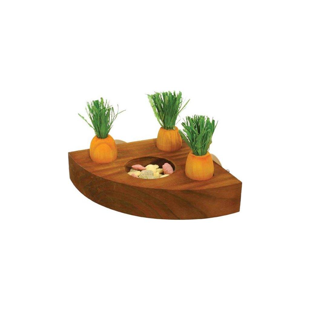 Hračka hlod. dřevo interaktivní - mrkve Rosewood 1 ks