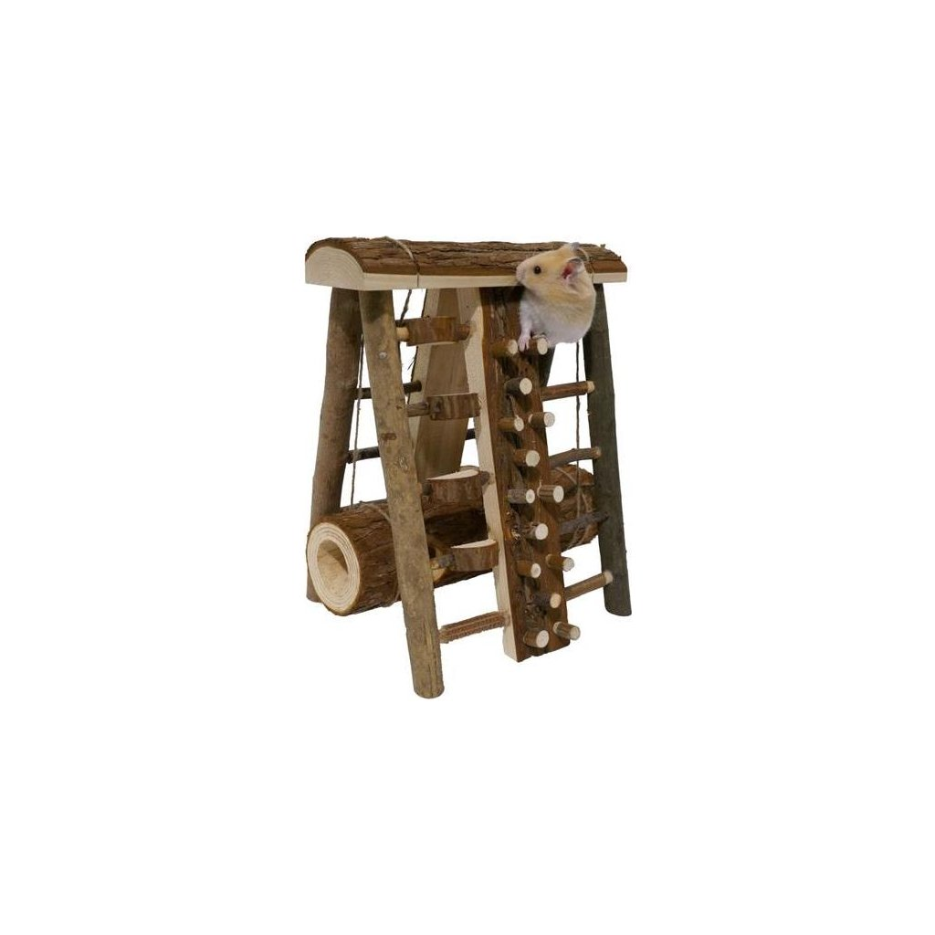 Hračka hlod. dřevo Prolézačka velká Rosewood 23 x 21 x 28 cm