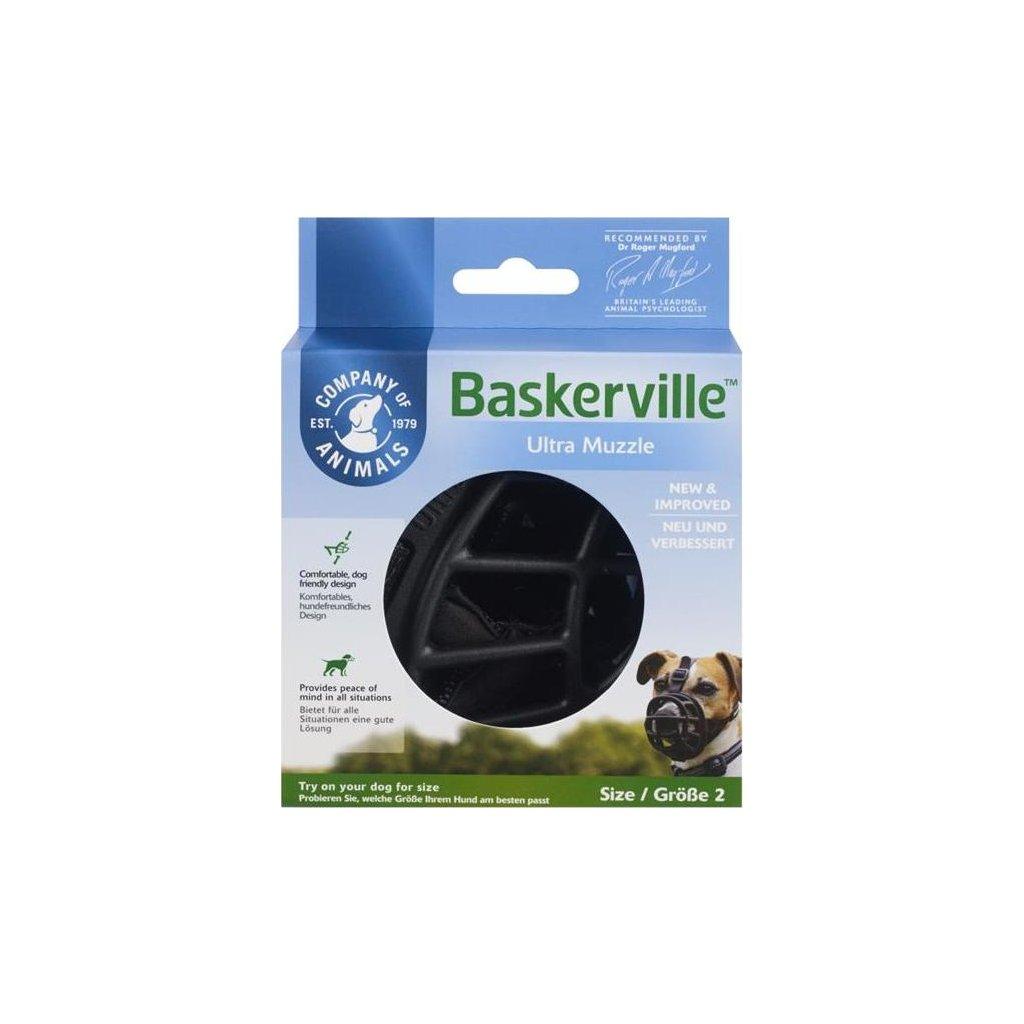 Náhubek plast Baskerville černý The Company vel. 3