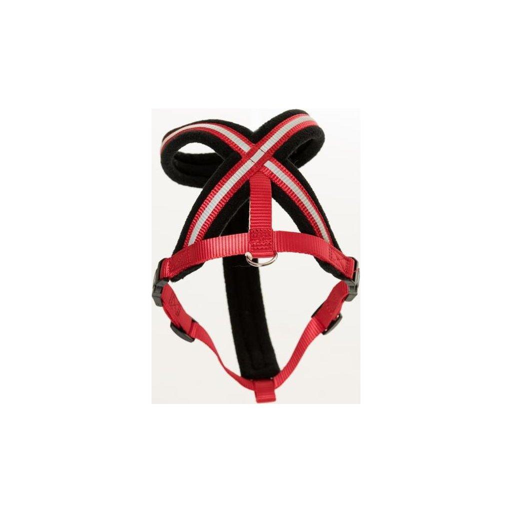 Postroj nylon Comfy červeno/černý The Company 4 Small