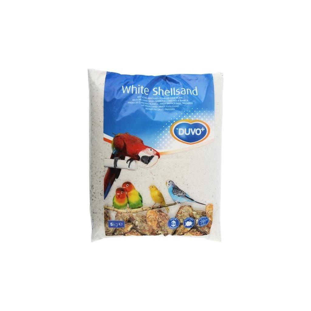 Písek hygienický pro ptáky, bílý+mušle Duvo+ 5 kg