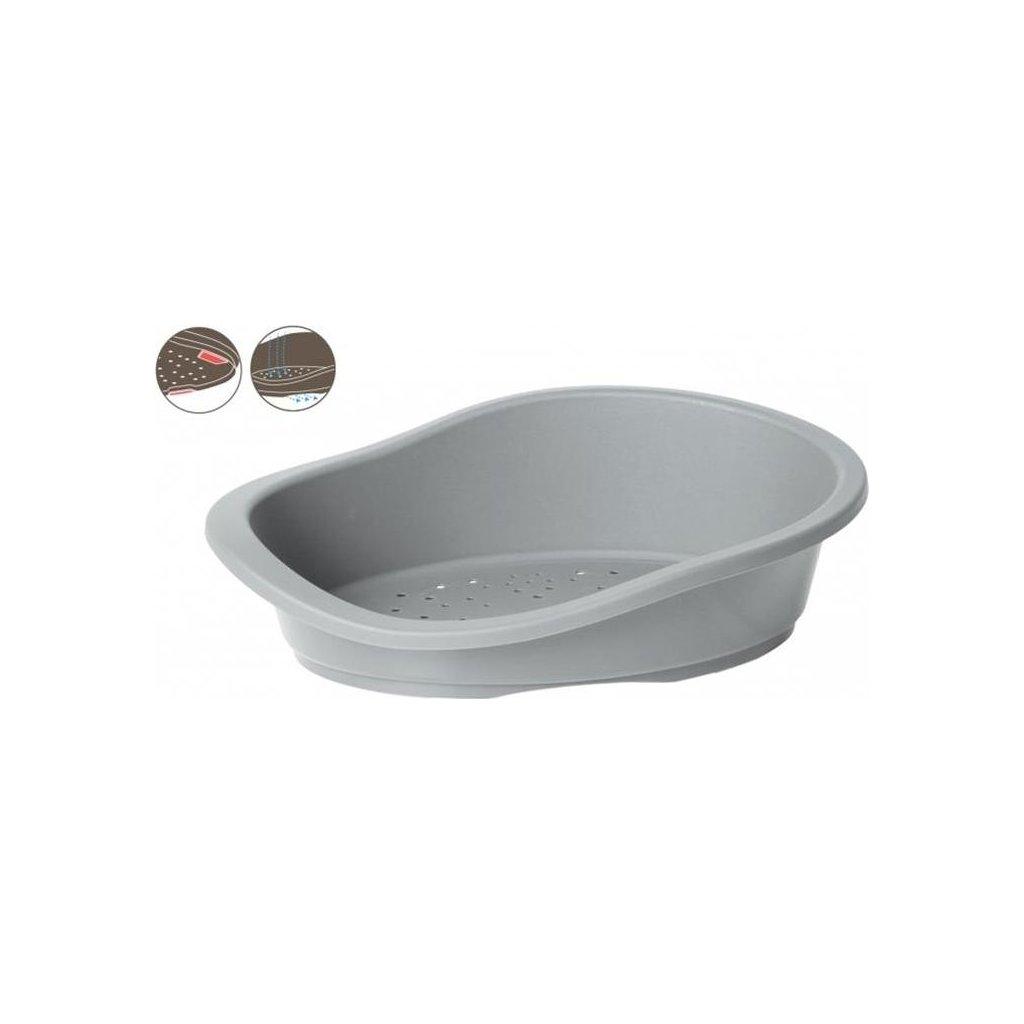 Pelech ovál plast šedý DUVO+ 94 x 66 x 24 cm