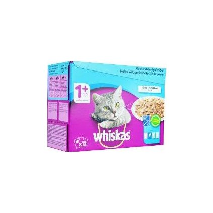 Whiskas kapsa Rybí výběr v želé 12x100g