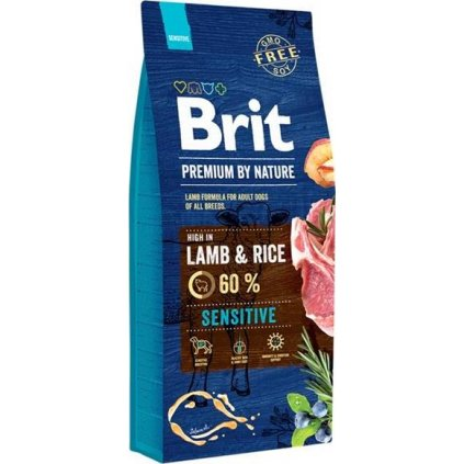Brit Premium by Nature Dog Sensitive Lamb 15 kg