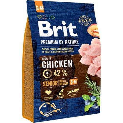 Brit Premium by Nature Dog Senior S+M 3 kg