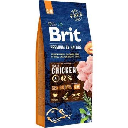 Brit Premium by Nature Dog Senior S+M 15 kg