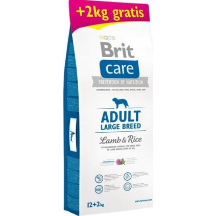 Brit Care Dog Adult Large Breed Lamb & Rice 12 kg + 2 kg zdarma