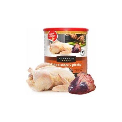 Topstein Kuře a srdce v plechu 800 g