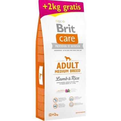 Brit Care Dog Adult Medium Breed Lamb & Rice 12 kg + 2 kg zdarma