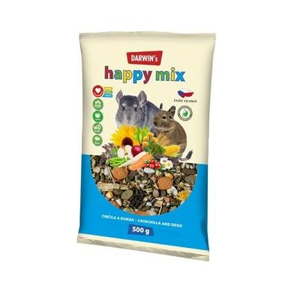 Darwin's Činčila&Osmák Happy mix 500g NEW