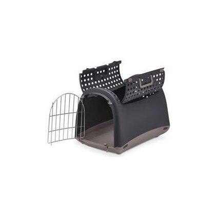 Přepravka pro kočky a psy Cabrio Antracitová IMAC
