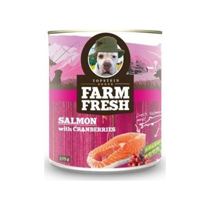 Farm Fresh Dog Salmon with Cranberries konzerva 375g