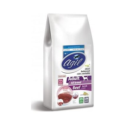 Agil Adult All Breed Low Grain Beef,Lamb,Tuna  10kg