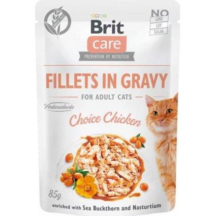 Brit Care Cat kaps. Fillets in Gravy Choice Chicken 85 g