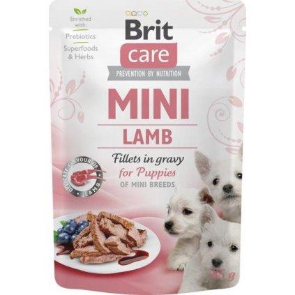 Brit Care Mini Dog kaps. Puppy Lamb fillets in gravy 85 g