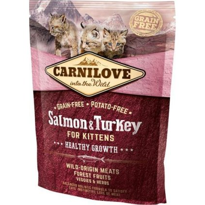 Carnilove Cat Kitten Salmon & Turkey Grain Free 0,4 kg