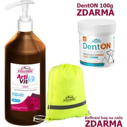 VITAR Veterinae ArtiVit Sirup 1000ml+DentON100g+batůže