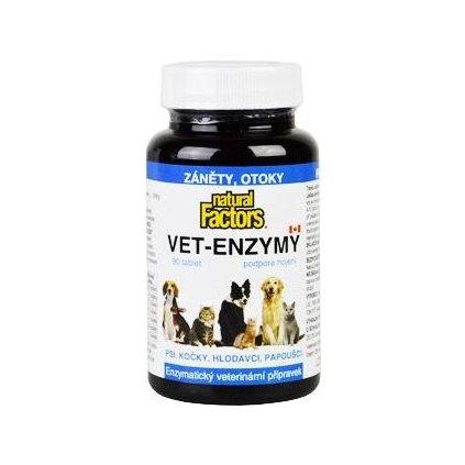Vet-Enzymy 90tablet podpora hojení, záněty, otoky