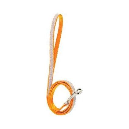 Vodítko kočka SHINY nylon oranžové 1m Zolux