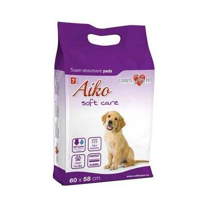 Podložka absorbční pro psy Aiko Soft Care 60x58cm 7ks