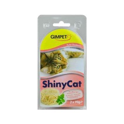 Gimpet kočka konz. ShinyCat  kuře/krab 2x70g