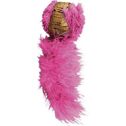 Hračka cat korek míček s ocáskem KONG