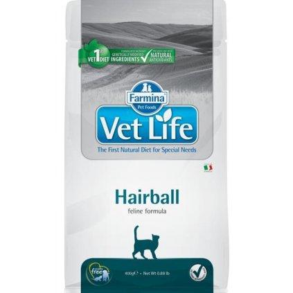 Vet Life Natural Feline Dry Hairball 400 g