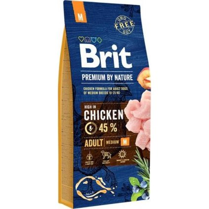 Brit Premium by Nature Dog Adult M 15 kg