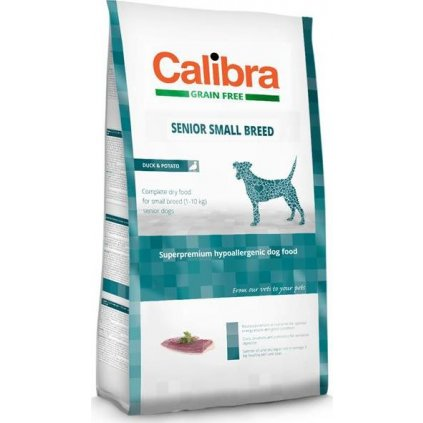 Calibra Dog GF Senior Small Breed Duck 2 kg