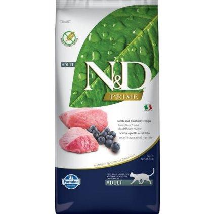 N&D PRIME Cat Grain Free Adult Lamb & Blueberry 5 kg