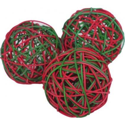 Hračka hlod. vánoční proutěné koule RW 8cm 3ks