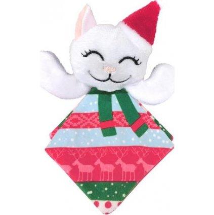 Hračka cat vánoč. Crackles Santa Kitty Kong