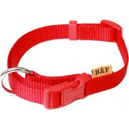 Obojek nylon Červená B&F 1,5 x 30-50cm