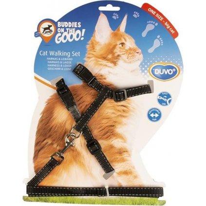 Postroj a vodítko big cat DUVO+ reflex30-50cm/12mm-125cm