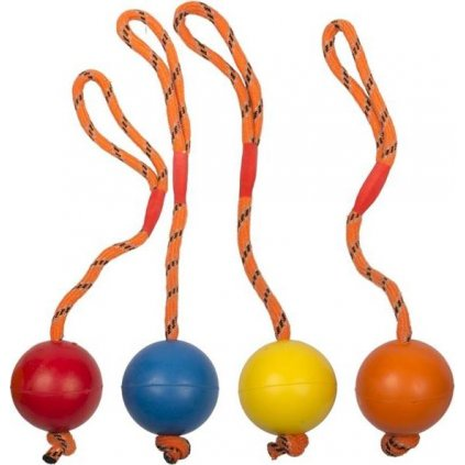 Hračka tvrdý míč. Na šnůrce 6cm Duvo+