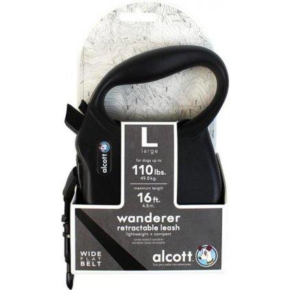 Alcott navíjecí v. Wanderer (do 49,8kg) - černé L 4,8m