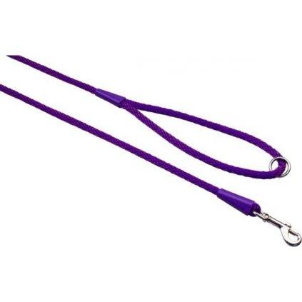 Vodítko textil lano SPIRÁLA fialová 0,6x150 B&F