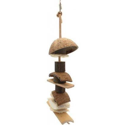 Hračka pták přírodní Kebab NatureFirst 36x14x9,5cm