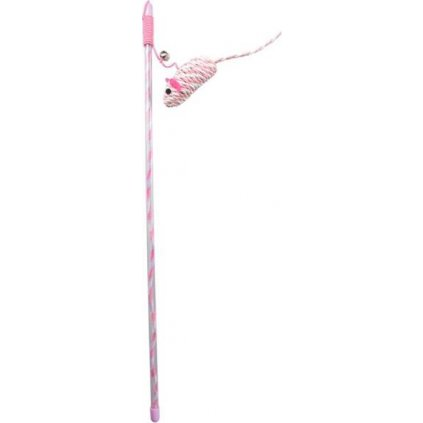 Hračka vábnička Mouse pink 15cm Duvo+