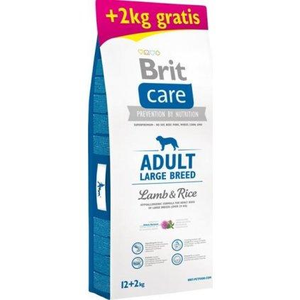 Poškozený obal - Brit Care Dog Adult Large Breed Lamb & Rice 12 kg + 2 kg zdarma